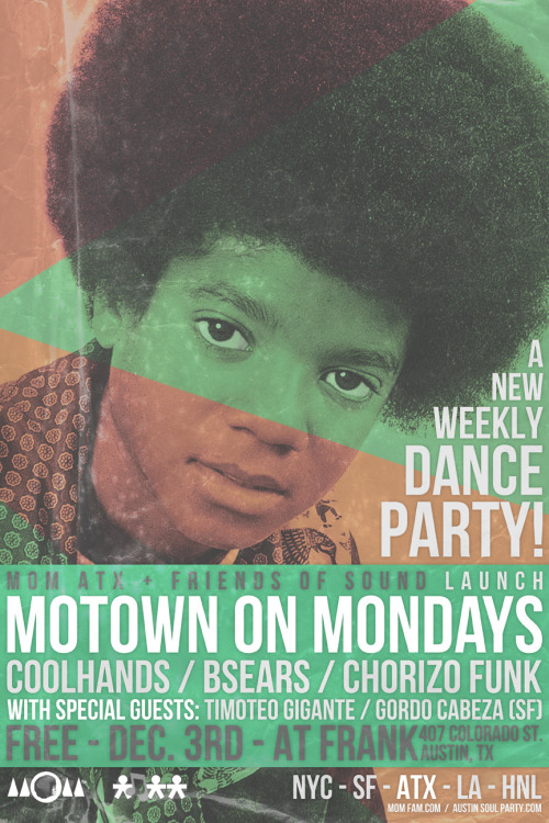 MOTOWN LIVES IN AUSTIN, TX EVERY WEEK @ FRANK DOWNTOWN 9PM - 1AM / NO COVER STARTING DECEMBER 3rd. BE THERE!