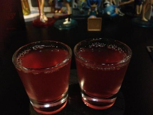 hackitude:  rudermensch:  mizaya: evangelion themed bar, including pictures of three of their cocktails 最低だ。。。(saitei da… shinji's line after the infamous hospital scene with asuka; the colour and texture of this drink were too accurate) あんたバカぁとほんとうにバカね (anta baka and hontou ni baka ne shots) 甘き死よ来たれ (come sweet death)  jizz drink.