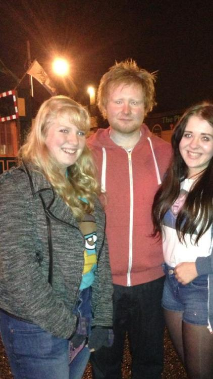 thewonderyearstrong:  fiicklehearted:  Ed Sheeran was playing tonight and girls from my school went and they've posted a photo with a random guy and they think it's Ed Sheeran.  oh ym fguck