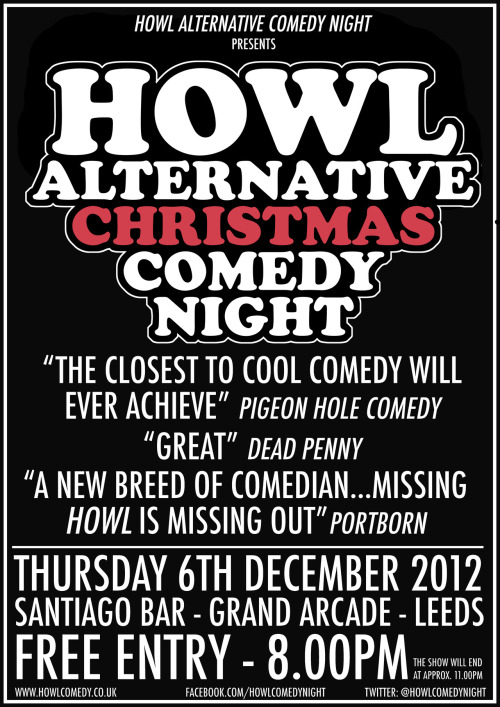 Here's a little poster for our Christmas Special.
