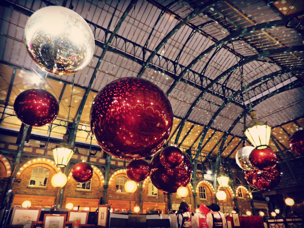 Christmas decorations in Covent Garden