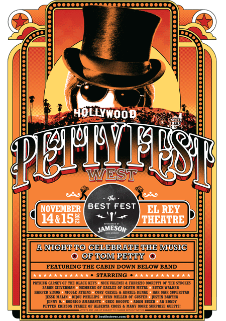 Tom Petty fans: come out to Jameson Irish Whiskey Tom Petty Fest at El Rey Theatre tonight and tomorrow night! Awesome bands like The Eagles of Death Metal & Har Mar Superstar! There are still tickets available!