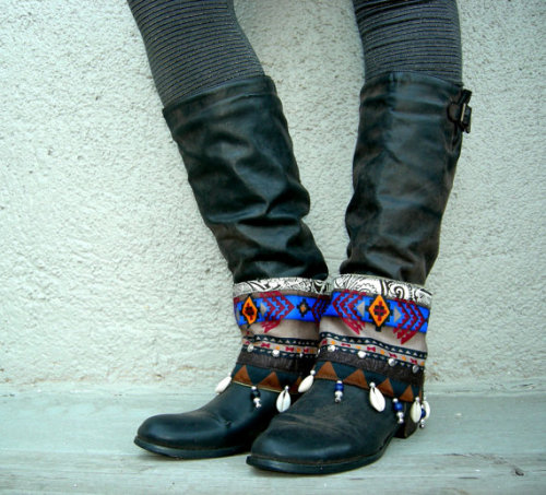 boot skootin' tribal style.. www.lotusrootscreations.etsy.com