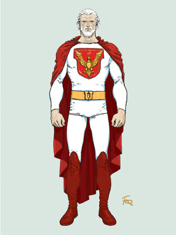 crapsulecorp:  Frank Quitely's sketch for a Jupiter's Children character.