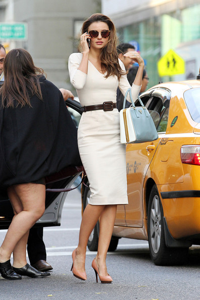 Miranda Kerr hailing a cab in NYC Wednesday…