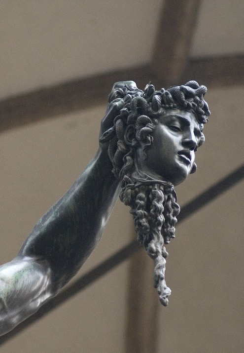 gladtoknowcha:  Perseus by Benvenuto Cellini (detail)  Off with her head!