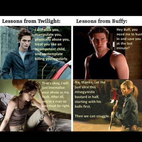 notinsanetruth:  #buffythevampireslayer vs #twilight