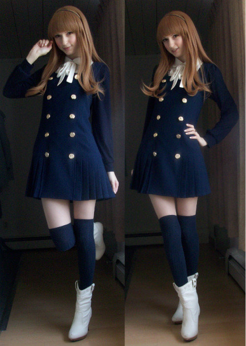 oppajjangg:  mintkismet:  today's outfit, wearing my favorite dress~ wig - Mintymixdress - Forever21top - Honeysboots - Dreamv/Yumetenbo  I looove this dress <3