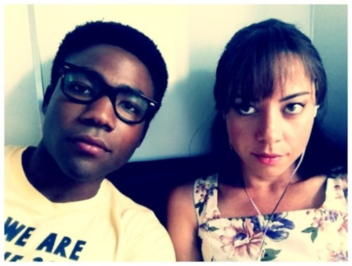 Comedians Hanging Out Together: Donald Glover & Aubrey Plaza.
