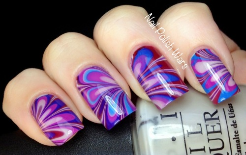 nailpolishwars:  A Wednesday Water Marble http://www.nailpolishwars.com/2012/11/a-wednesday-water-marble.html