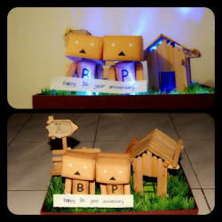The gift from you my hero :* #gift #myboyfriend #couple #danbo