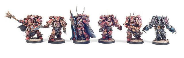 Chaos Space Marine Chosen on Flickr.Sorry these are so small. Be sure to click through to be able to view it larger.