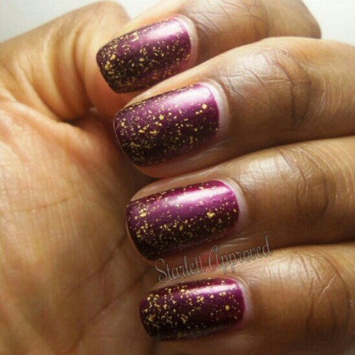 @Sephora by O.P.I 18k Gold top coat over @SallyHansen Save The Date