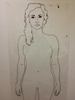 "My newest stencil to burn onto my big screen. She's 5'4"" inches tall! So stoked!"
