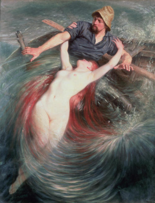theprimeval-elements:  The Fisherman and the Siren, by Knut Ekwall
