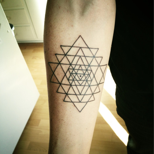 My new tattoo! Sri Yantra