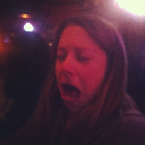 This is why you don't take Kel to a beer joint.  This is her face after a Brother Thelonious.  I gladly finished it. (at Stubby's Pub & Grub)