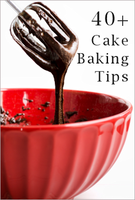 40 Cake Baking Tips & Tricks Here is a large assortment of tips I've accumulated over the years. Keep in mind different recipes will provide different results, but overall I've found these do noticeably improve most recipes or make things easier. Some recipes success depend on a specific ingredient or action. If one of these tips contradicts your recipe, your best bet is to follow what you have. Enhancers: Add 1 to 2 tablespoons of meringue powder to your mix to help it rise a bit higher and make it a bit lighter in texture. Add 1 envelope of unflavored gelatin to the batter, helps prevent the surface from splitting or cracking. First add a teaspoon of lemon juice to the butter and sugar called for before mixing the rest of the ingredients. Helps make the cake lighter. Take your time creaming the butter, beat/cream for at least 5 minutes to get lots of air into the butter. Add the sugar and beat/cream really well again. Separate eggs first–beat yolks till golden and creamy then add to the butter/sugar mixture. Beat the egg whites until light and frothy before folding them into the butter mixture. Moister: Chocolate: Before adding the bicarb required, mix it with a teaspoon of vinegar. Dense or Fruit Cakes: Keep a heatproof dish full of water in the oven while baking (replace water if needed to keep it topped up). Substitute oil for unsweetened applesauce or plain yogurt. Your measure can be 1:1 or 50/50. For example, if the recipe calls for 1 cup oil, use 1/2 cup oil and 1/2 cup applesauce. Different types of cakes will offer different results for texture and taste, but a good start would try the 50/50. Not only helps for moister results, also cuts fat. Sifting: Measure all ingredients to exact amounts first, then sift.  Prepping Tins: Homemade Magic Pan Grease: You can buy Magic Grease or make your own. This is used as a substitute to greasing then dusting with flour when directed to do so. Keep unused portion in an airtight container and refrigerate to use next time. First Version: Mix 1 cup shortening (like Crisco), 1/4 cup flour, 1/4 cup vegetable oil and apply evenly with a pastry brush. Second: 2 cups of Crisco and 1 cup of flour More greasing tips: Apply with a paper cupcake holder, a paper towel, a piece of wax paper, the butter wrapper paper or a plastic baggy. You could also use a pastry brush. Try dusting the tins with a bit of the dry cake mix or cocoa (for chocolate) instead of flour. Apply shortening then line with a piece of wax paper to fit the bottom. Re-grease the top of the wax paper. Pour in the batter. To get the wax paper to size, you can either trace the bottom of the tin and cut it out, or after greasing, smooth a sheet of wax paper into the pan (pressing all around the creases), remove the wax paper and cut out along the crease. This is kinda messy though, better to trace then cut it out. To cut fat, try baking without greasing even if the recipe instructs to do so. You can just place a waxed paper liner to fit the bottom, then pour in the batter. This will also help remove the finished product cleanly. For high varieties, you'll want to still grease and flour sides of pans if specified. ~~~~ FOR MORE TIPS ClICK ON LINK! :)