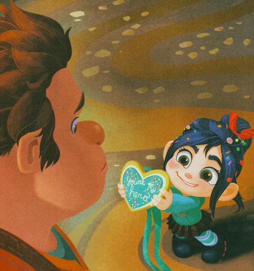 akithefrivolitious:  Aaaaaugh Vanellope wai are you so kawaii desu <3~!   Anybody know the original artist? I'd love to credit them.