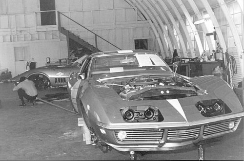 corvettes:  Prepping some L88 Corvettes for racing