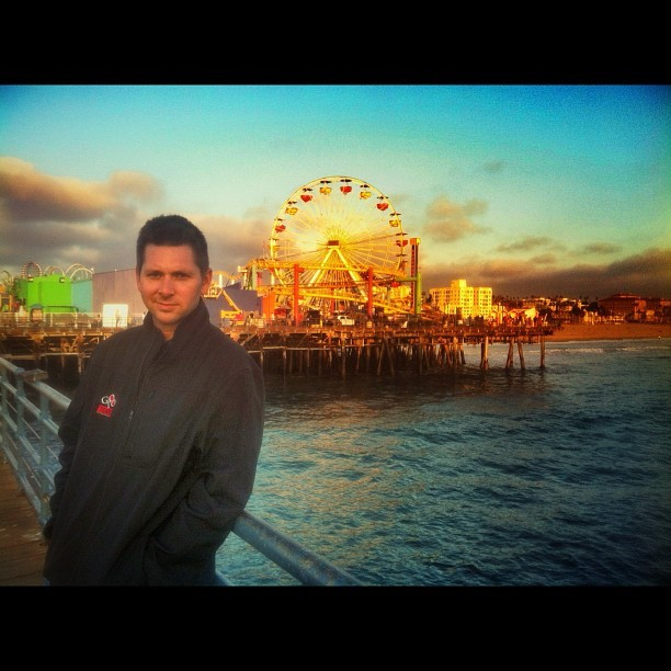 312 - santa monica sunset #santamonicapier #santamonica #ferriswheel #california #cali #sunset #tokensunset #pier #boyfriendpic