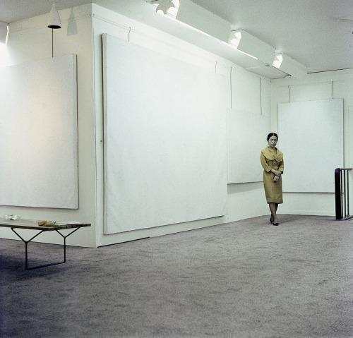 Kusama at the Stephen Raditch Gallery, New York, 1961
