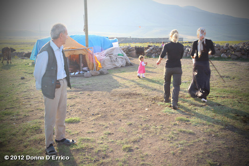 August 2012 Mt. Ararat Expedition: Off to learn how to milk cows…View more Donna D'Errico on WhoSay