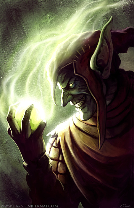 thehappysorceress:  Old But Gold - Green Goblin by Carsten Biernat