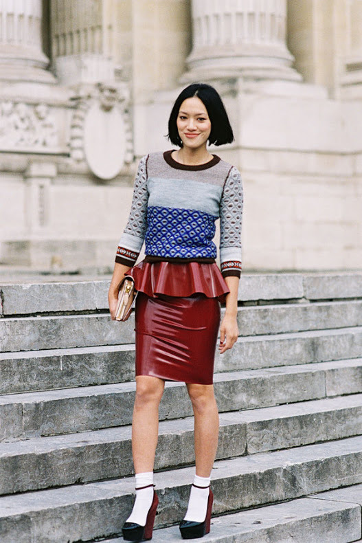 Tiffany Hsu, Lane Crawford's womenswear buyer, before Carven, Paris, September 2012. (image: vanessajackman)