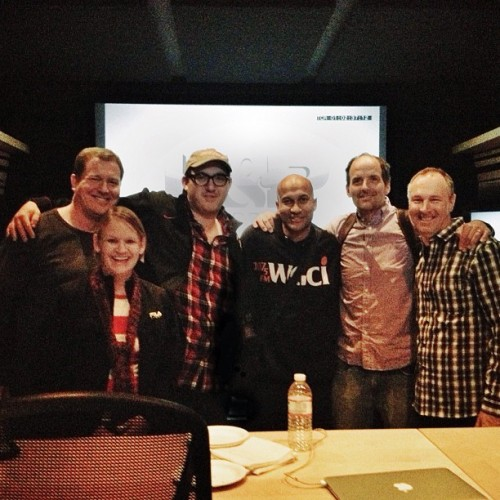 atencio:  Key & Peele Season 2 last mixing session of the season: Ian, Megan, me, Keegan, Jay, and Fred (at Larson Studios Wilcox)
