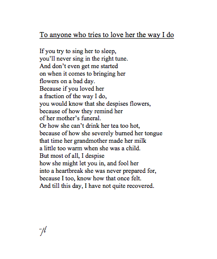 I just fell in love with a poem.