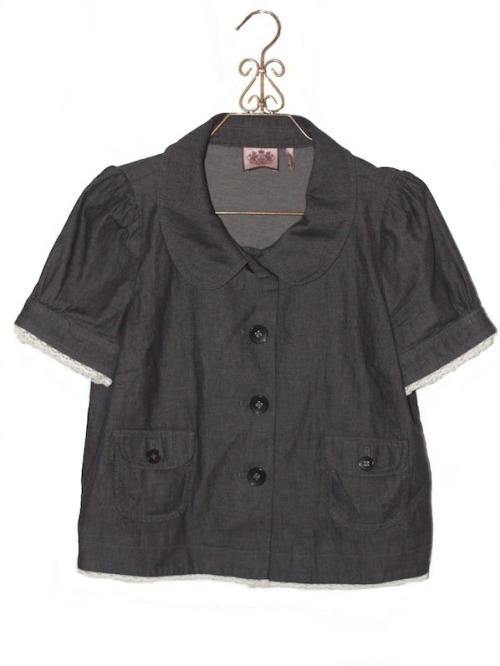 Juicy Couture - Button Up Short Sleeve Shirt $45  http://voiciclothing.bigcartel.com/product/juicy-couture-button-up-shirt