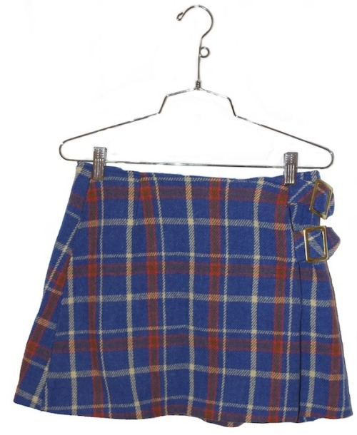 Vintage Skirt - Plaid Blue  $18