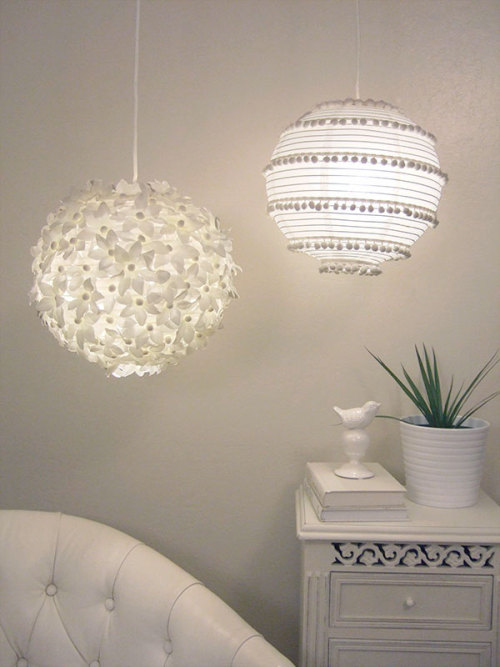 Lovely DIY decor for Ikea paper lanterns - tutorial ai source
