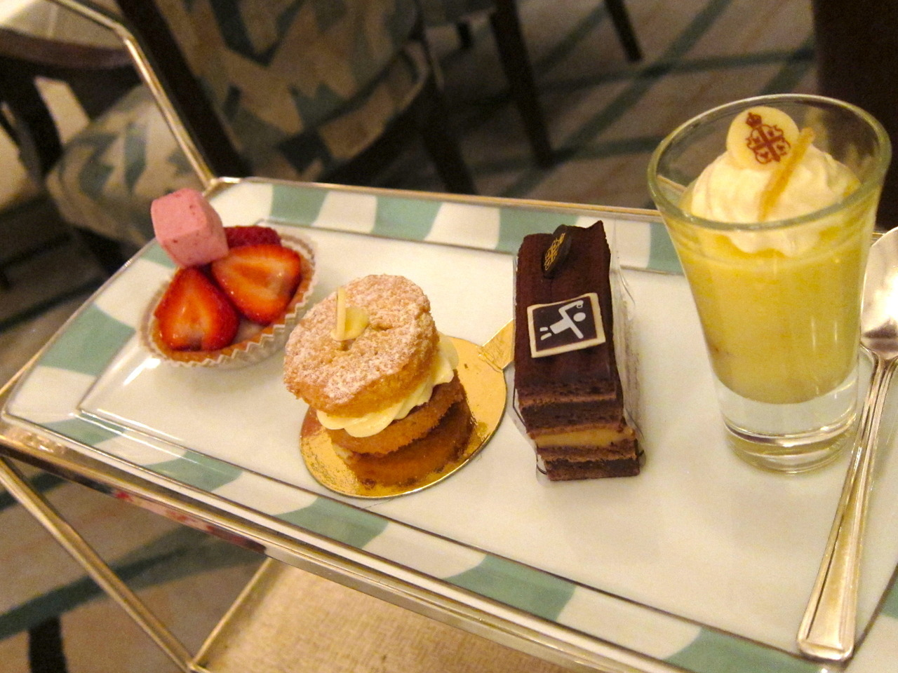 Cakes and pastries from our British afternoon tea at Claridges