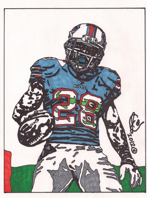 artofnfl:  CJ Spiller (Bills Edition) by *JColley79  Spiller art!