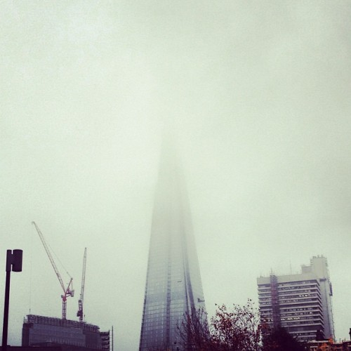 The Shard disappears into London's mist (at EDF Energy)