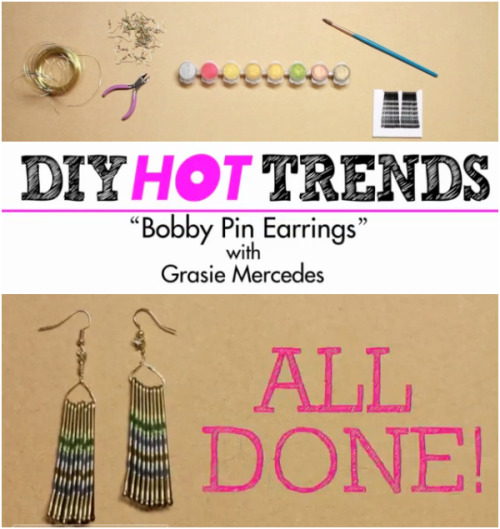 Style Me Grasie: DIY BOBBY PIN EARRINGS! HOW-TO VIDEO WITH STYLE HAULby Grasie Mercedes http://bit.ly/SrrgRy