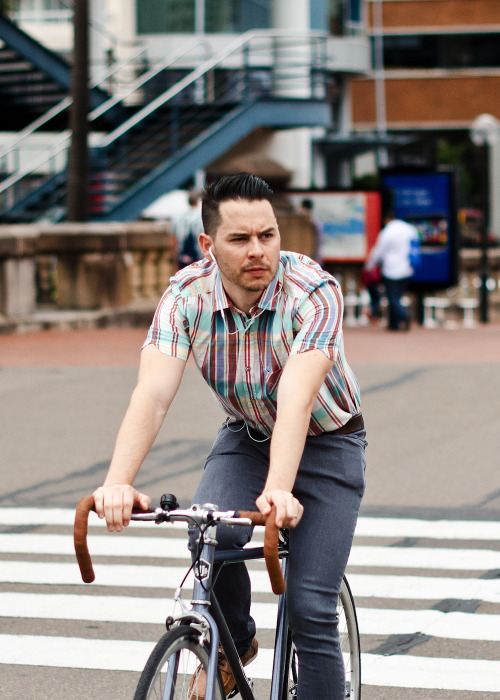 Modern cycle.Similar look: ASOS Oxford Stripe Shirt.