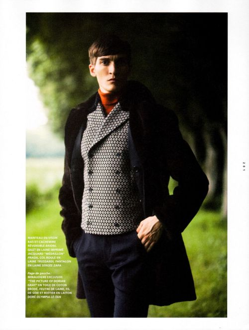 oswaldgrouse:  Matvey Lykov by David Armstrong | L'Officiel Hommes November 2012
