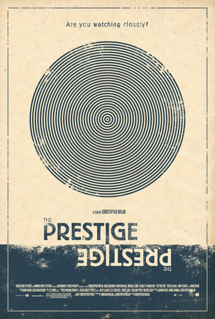 minimalmovieposters:  The Prestige by Adam Rabalais