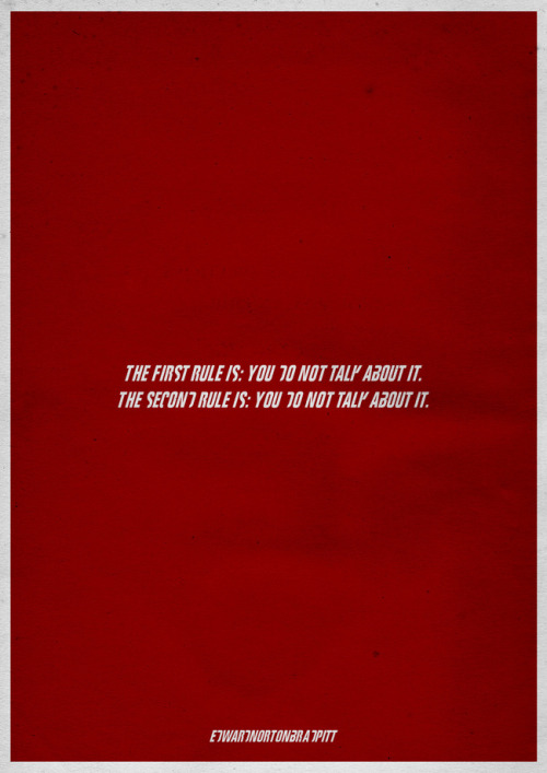 minimalmovieposters:  Fight Club by Joao R Zanetti