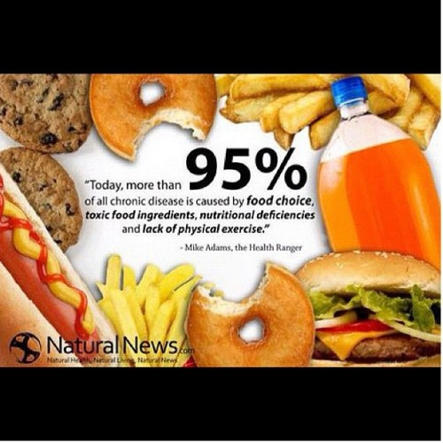 More than 95% of chronic diseases are caused by food choice…. Please #WakeTheFuckUp & #SaynotoJunkfood #health #fitness #doBetter