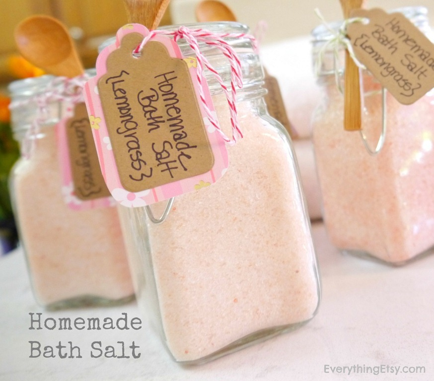Homemade Bath Salts Tutorial.