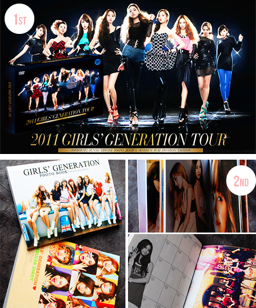 Hi everyone! Here's our third giveaway~ 1st Prize Winner: SNSD's 2011 2nd Asia Tour DVD (includes solo performances) ☆ You can view the DVD's tracklist here. ☆ Please note that Seohyun and Yoona's solo performances were removed due to copyrights. 2nd Prize Winner: SNSD 64 page Unofficial Photo booklet + Mini Diary ☆ For a larger view of the second prize click here. I will be shipping internationally. The winner will be chosen randomly with an online number generator. Rules: ☆ You may reblog/like this post as much as you like. ☆ Do not make a separate account just to reblog this giveaway (that's cheating). ☆ You can message me with any questions or concerns. ☆ Following is not optional this time because this giveaway was created for our followers. ☆ Winners must have enabled their ask box. ☆ The Winners must respond to the message within 48 hours or I will choose someone else. The Giveaway will end on December 25, 2012. Good luck everyone ♥
