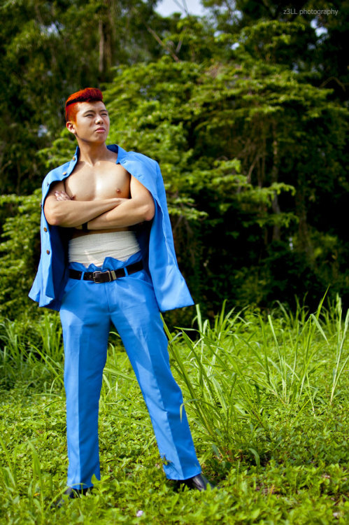lockieishere as Kazuma Kuwabara / Alfred from YuYu Hakusho / Ghost Fighter Photo by: :devz3LLLL: fb.com/z3LLphotography AFA 2012, Singapore Expo
