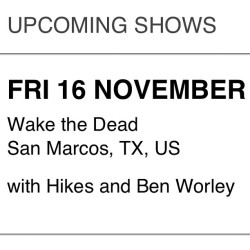 @moving_castles plays early at Wake the Dead in San Marcos this Friday. We go on at 8pm! #ATX #livemusic #TexasState