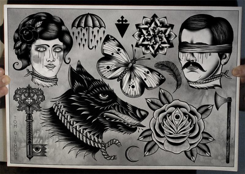 "TATTOO FLASH SHEET - ""The Last Winter""© 2012 Tom Gilmourwww.tomgilmour.com"