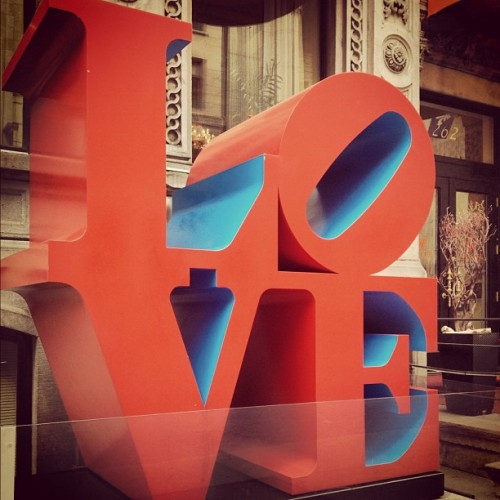 "Good Morning - 8 ""Love"" by Robert Indiana, L Hotel -Montreal ©meve 2012"