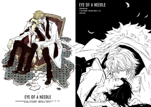 Title :: Eye of a NeedleCircle :: KurosusutouFandom :: Katekyo Hitman REBORN!Pairing :: Dino x Hibari Translator :: yuulinProofreader :: ceasefireCleaner :: alyssa8888Typesetter :: caoxoanxWarning :: YaoiRating :: R-18Language :: English  Happy birthday, fuwacchi ♥  The one who falls in love loses.